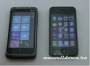 Windows Phone 7 против iPhone IOS