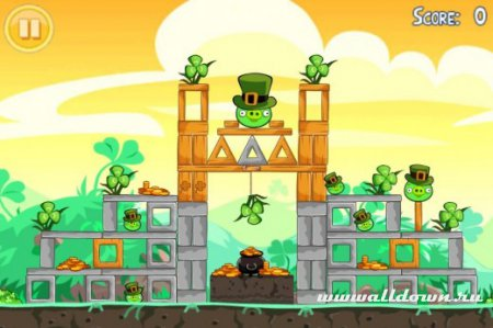 Angry Birds Seasons,версия День Св.Патрика для Symbian^3