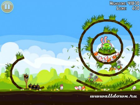 Новые Angry Birds Seasons: Easter Eggs!