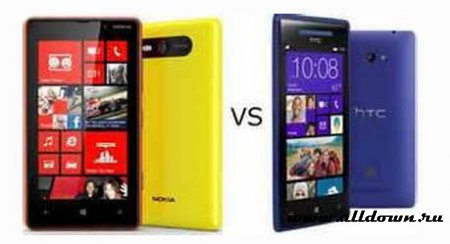 Nokia Lumia 820 против HTC Windows Phone 8X
