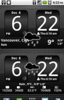 FlipClock BlackOut Widget- v.1.0